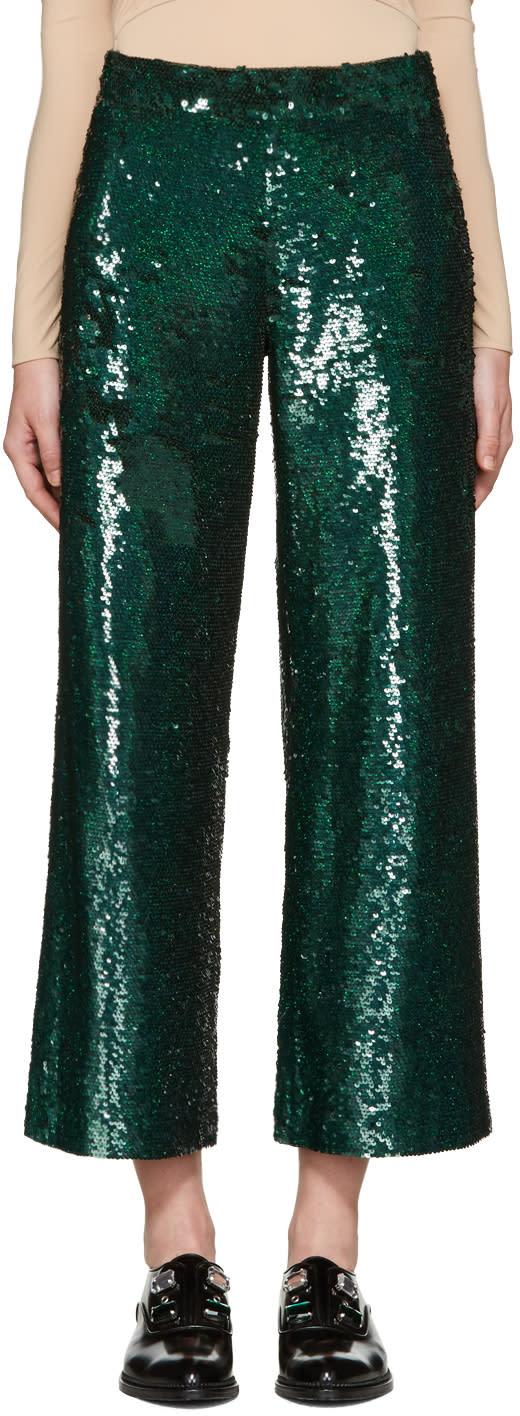 Ashish Green Sequin Trousers