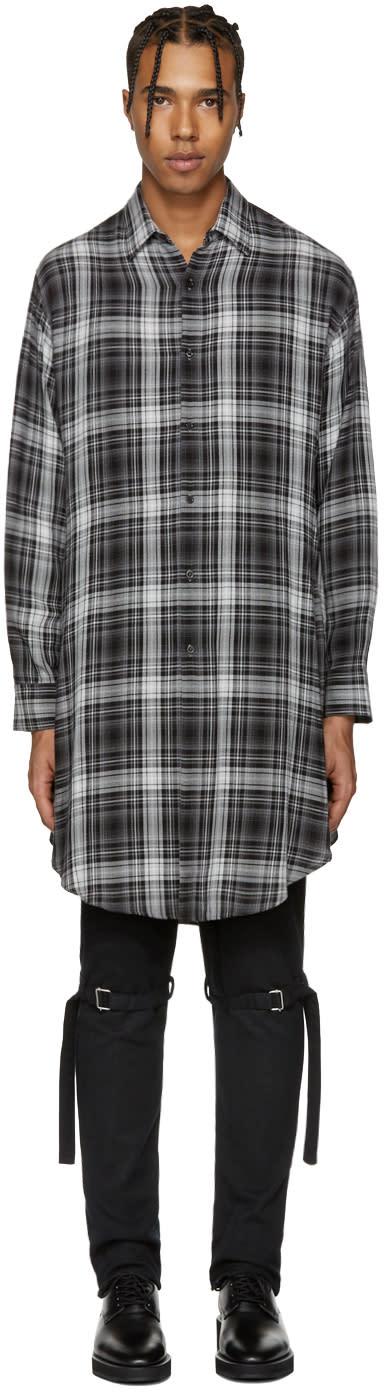 Lad Musician Black Long Check Shirt
