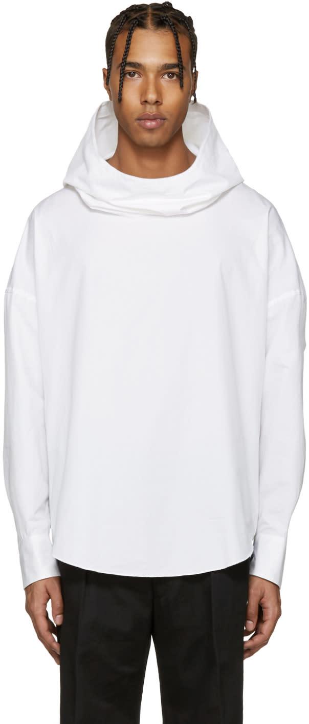 Lad Musician White Hooded Shirt
