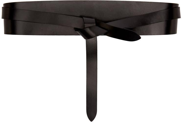 Isabel Marant Etoile Black Leather Deb Belt