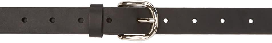 Isabel Marant Black Leather Zap Belt