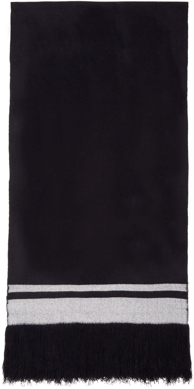 Isabel Marant Black Cashmere Carlyn Scarf