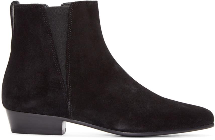 Isabel Marant Black Suede Patsha Boots