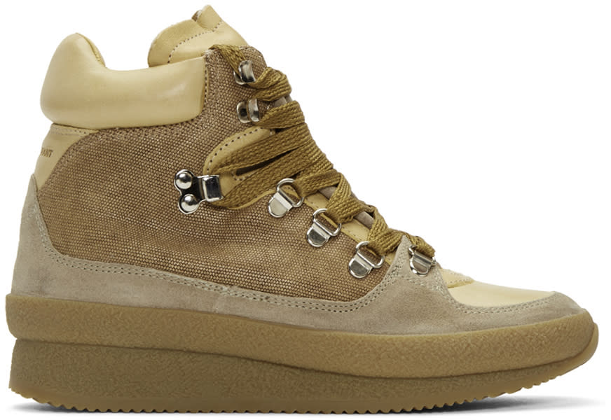 Image of Isabel Marant Beige Brent Hiking Boots