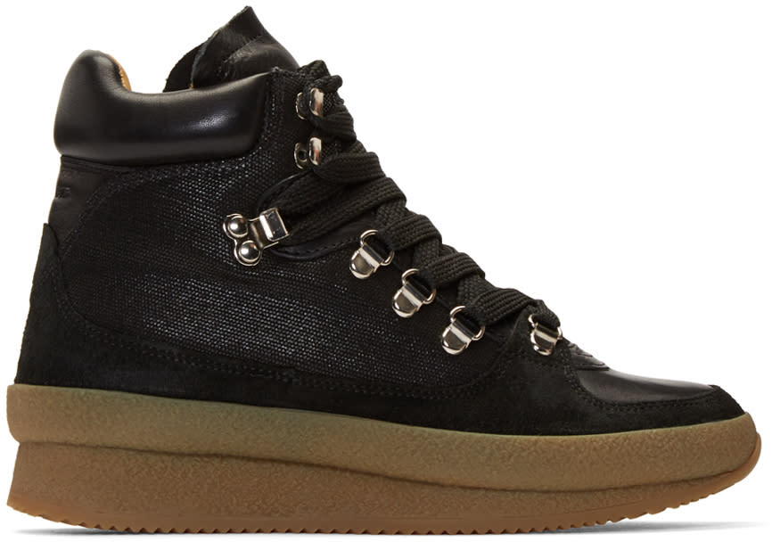 Isabel Marant Black Brent Hiking Boots