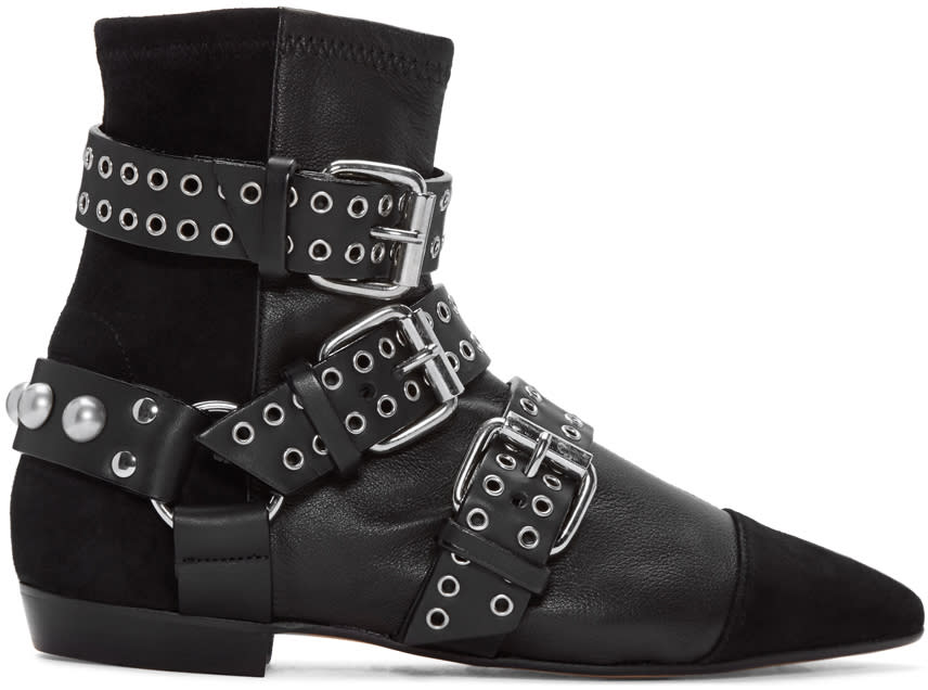 Isabel Marant Black Rolling Eyelet Boots