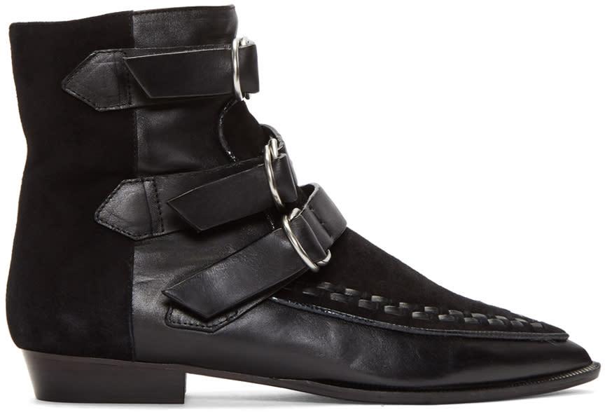 Isabel Marant Black Rowi Mods Boots