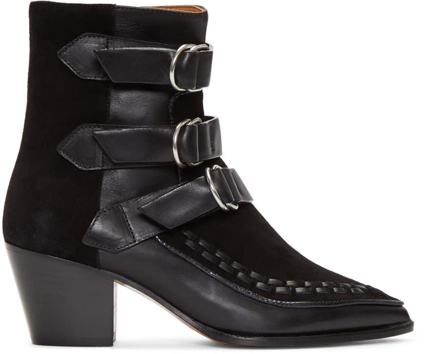 Isabel Marant Black Dickey Mod Boots