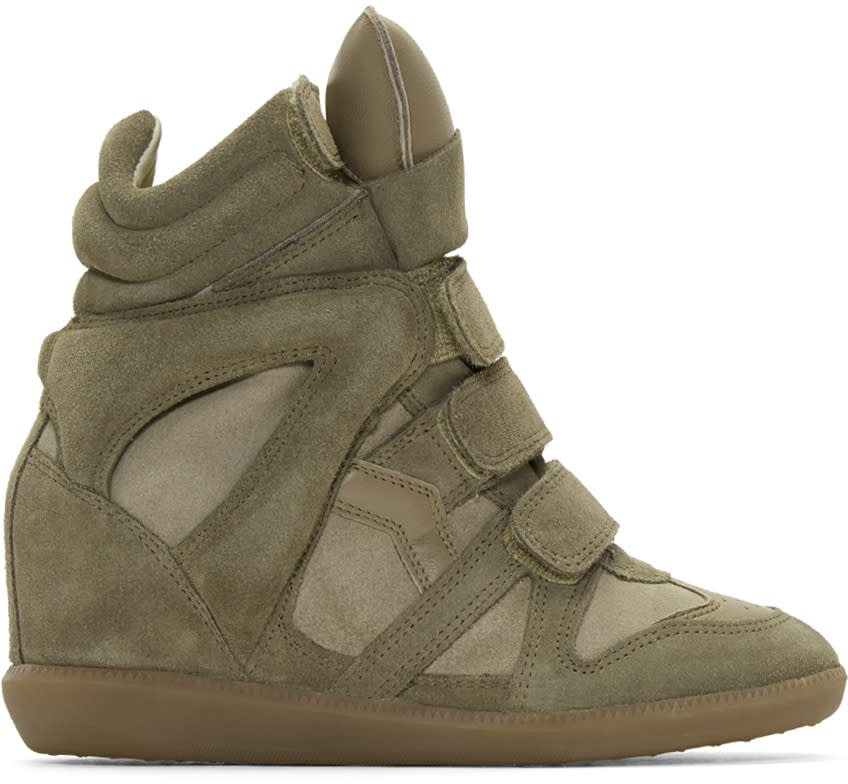 Isabel-Marant-Taupe-Suede-Bekett-Wedge-Sneakers