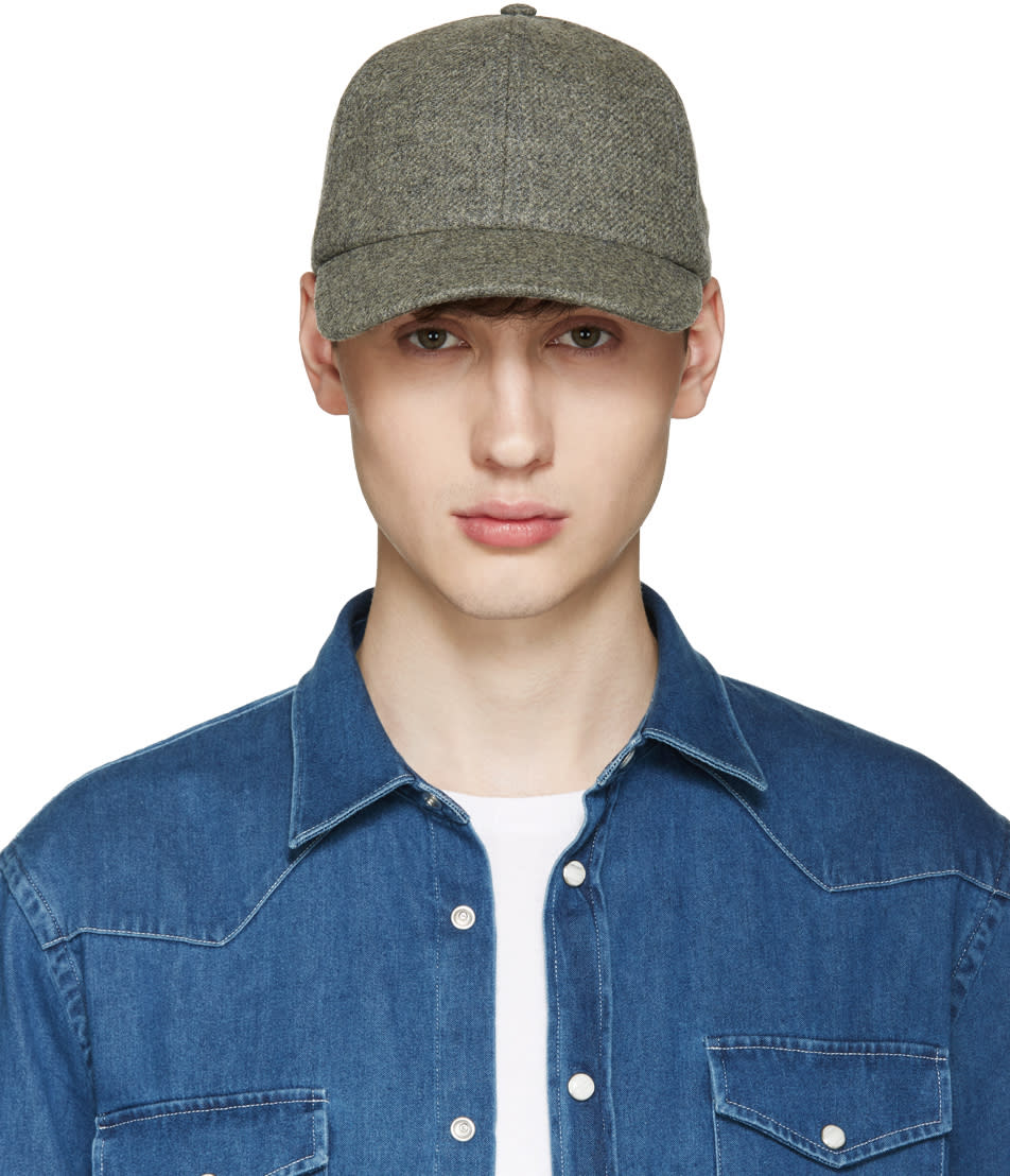 Image of Larose Grey Lambswool Baseball Cap