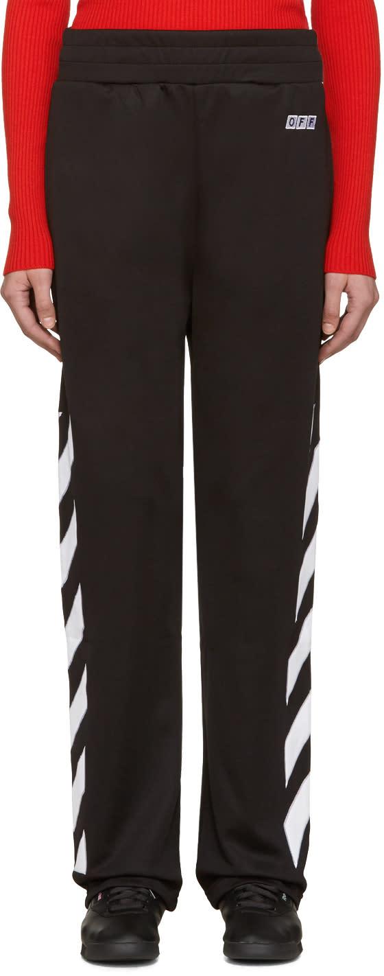 Off-white Black Sporty Logo Lounge Pants