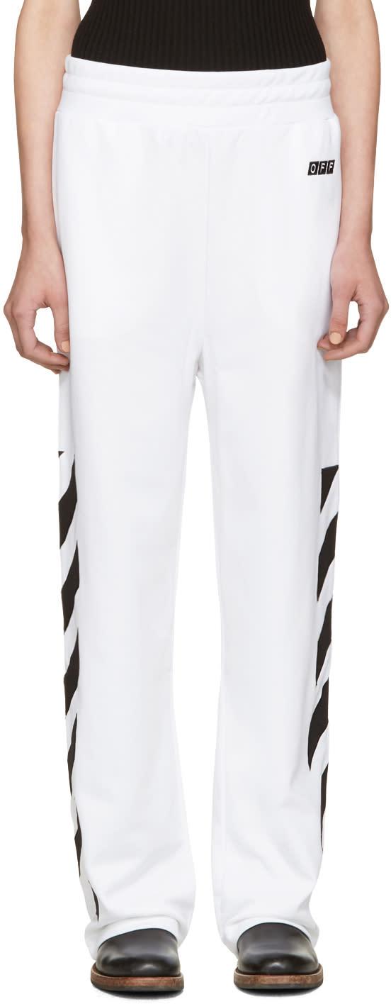 Off-white White Sporty Logo Lounge Pants