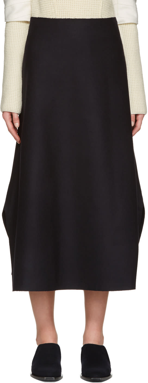Studio Nicholson Navy Branzi Skirt