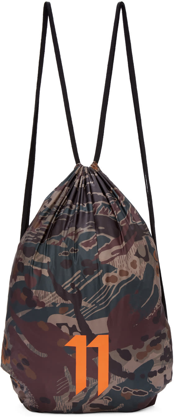 11 By Boris Bidjan Saberi Ssense Exclusive Green Drawstring Bag