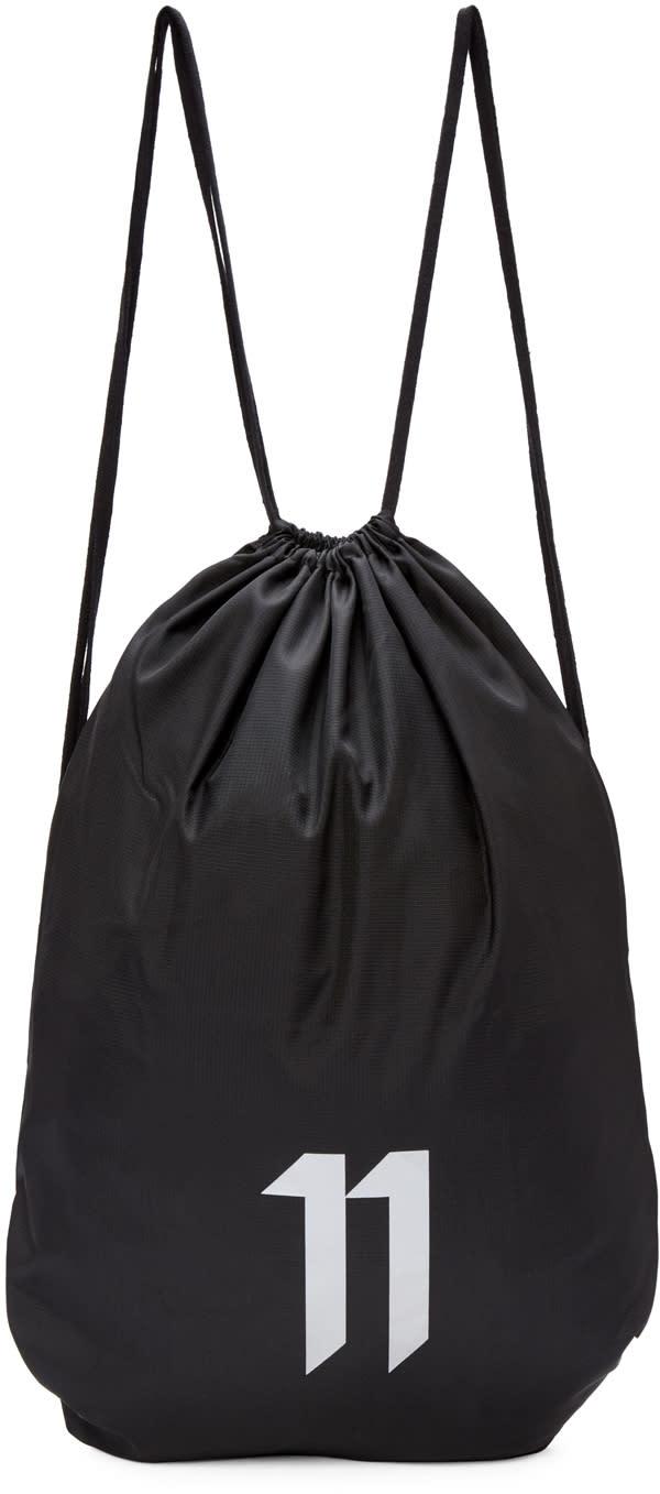 11 By Boris Bidjan Saberi Ssense Exclusive Black Drawstring Bag