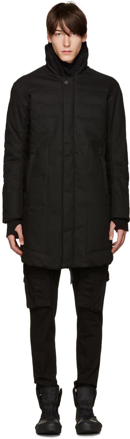 11 By Boris Bidjan Saberi Black Quilted Coat