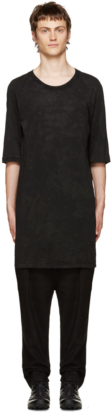11 By Boris Bidjan Saberi Black Coated T-shirt