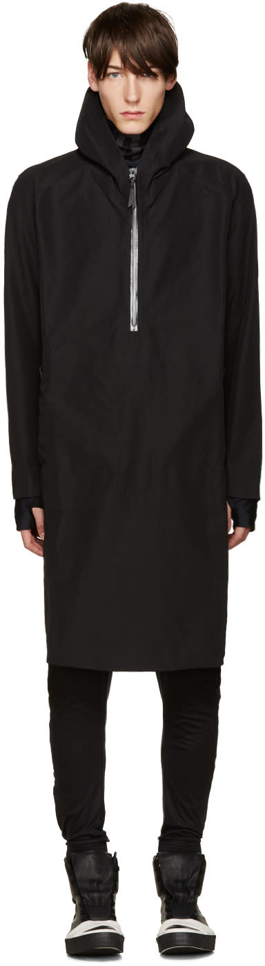 11 By Boris Bidjan Saberi Black Zip Hooded Jacket