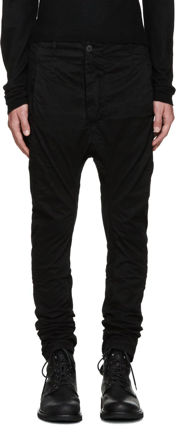 11 By Boris Bidjan Saberi Black Dye Trousers