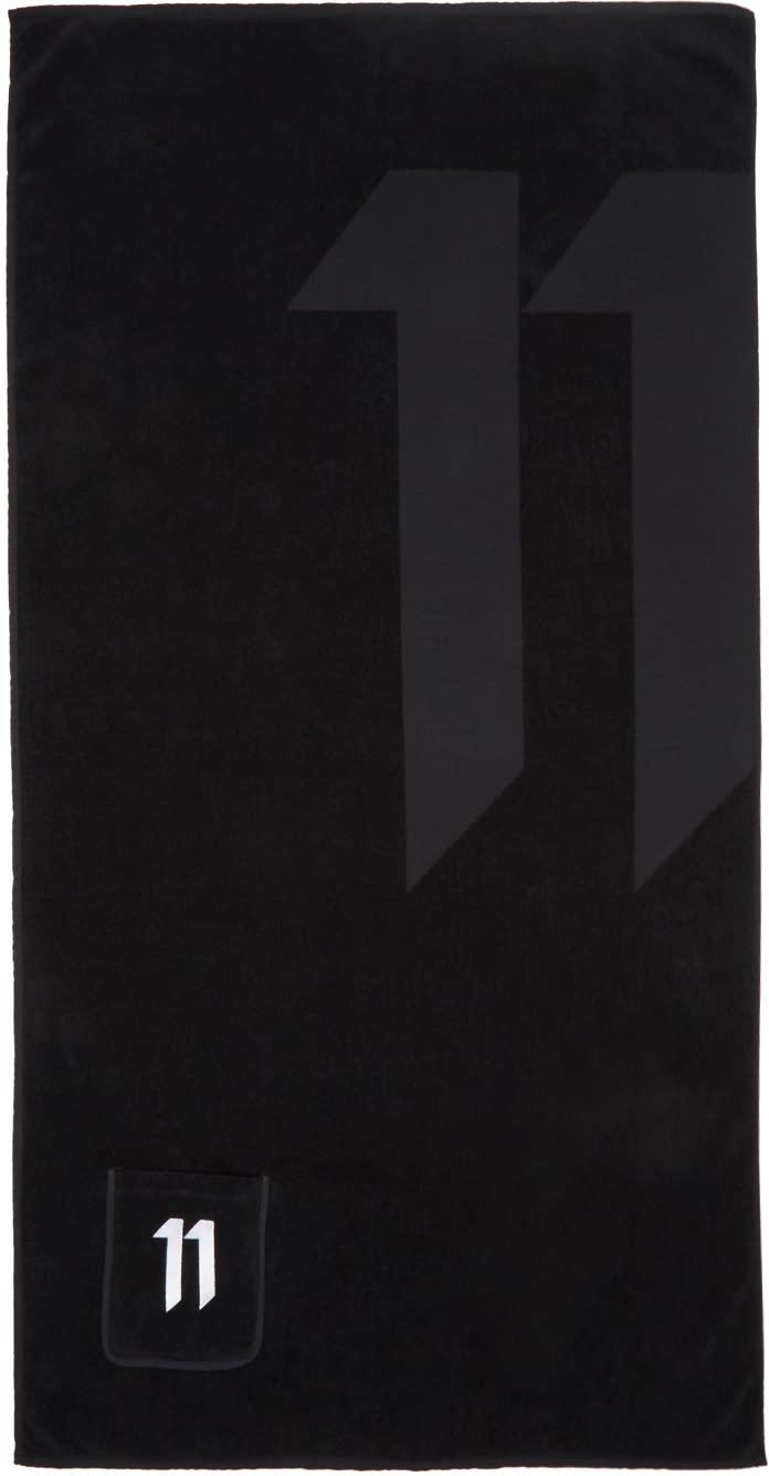 11 By Boris Bidjan Saberi Black Logo Towel