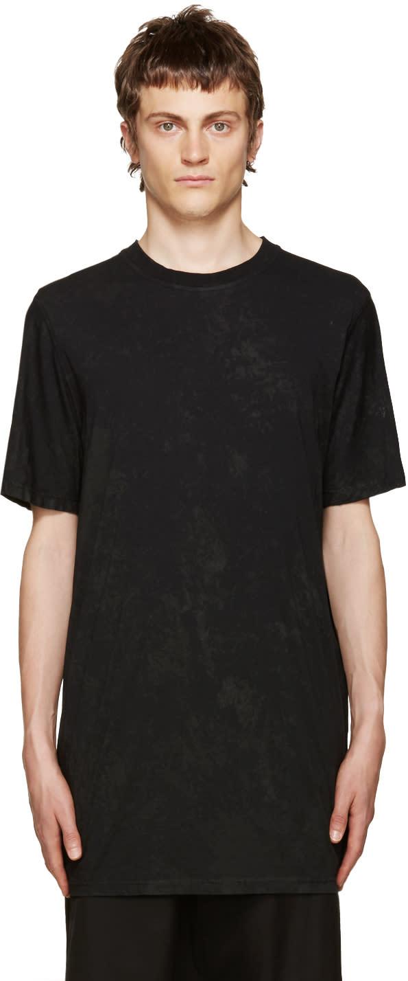 11 By Boris Bidjan Saberi Black Basic Coated T-shirt