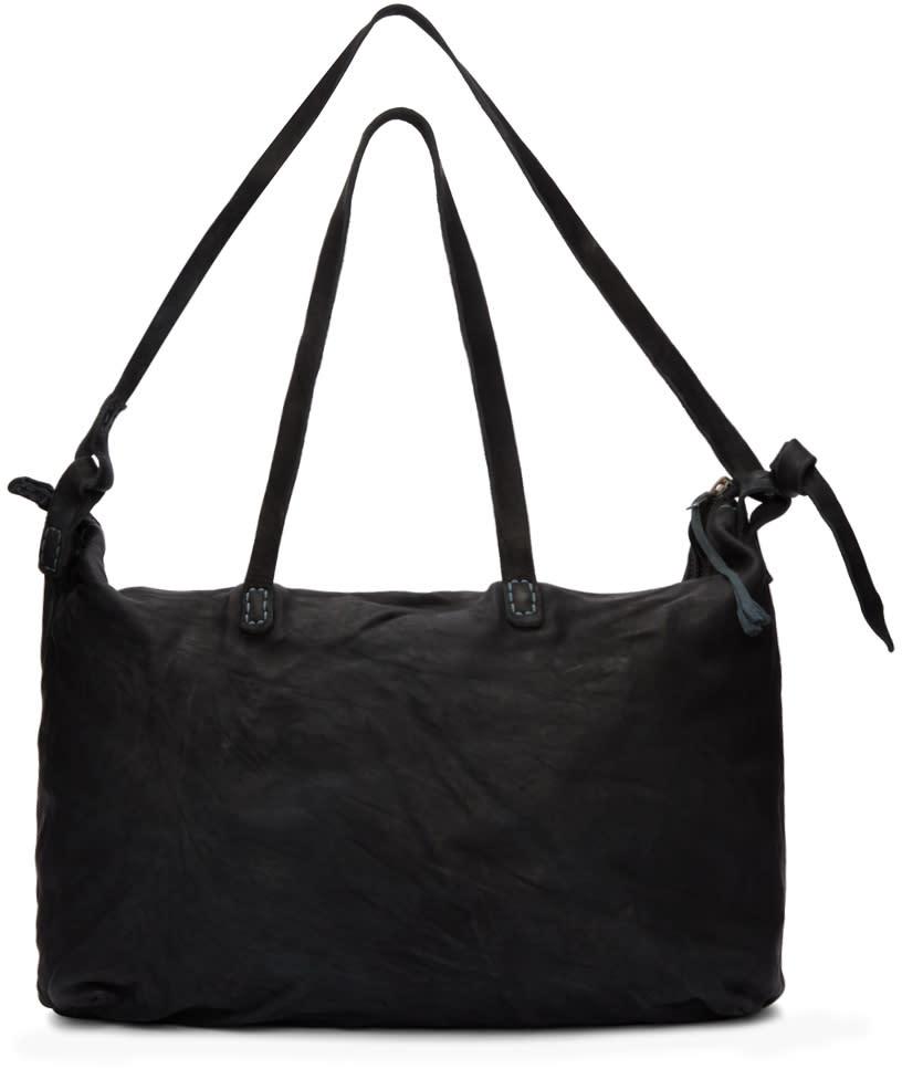 Boris Bidjan Saberi Black Nubuck Weekend Bag