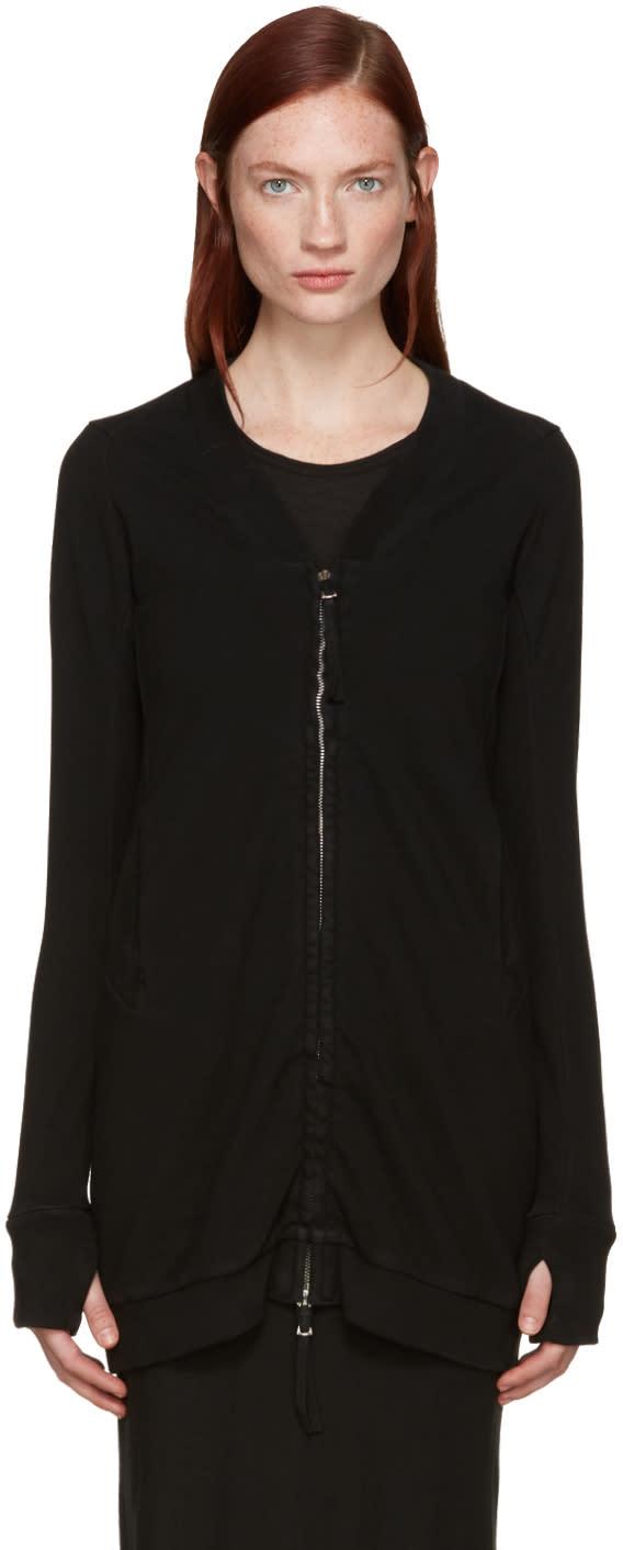 Boris Bidjan Saberi Black Zip-up Sweater