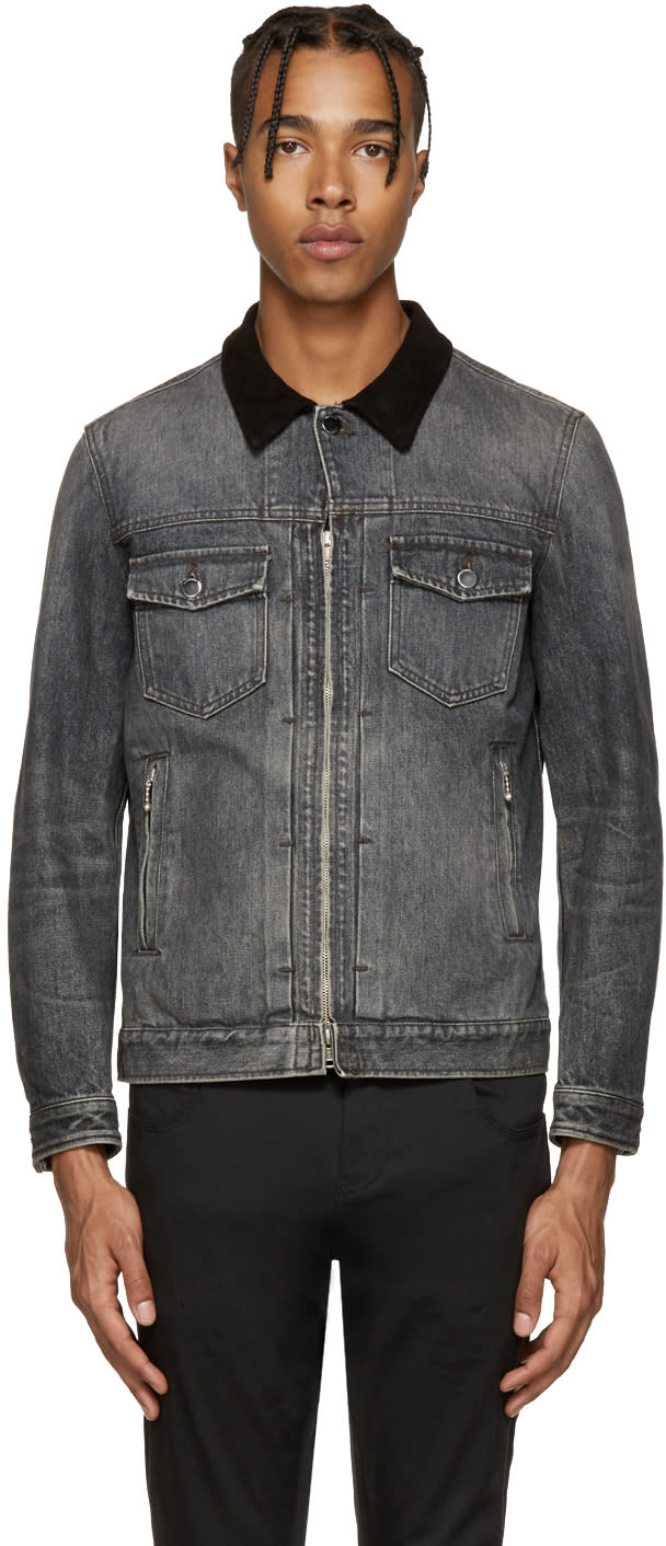 Diet Butcher Slim Skin Black Denim Jacket