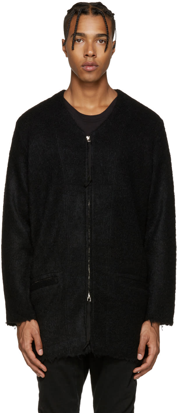 Diet Butcher Slim Skin Black Zip Cardigan