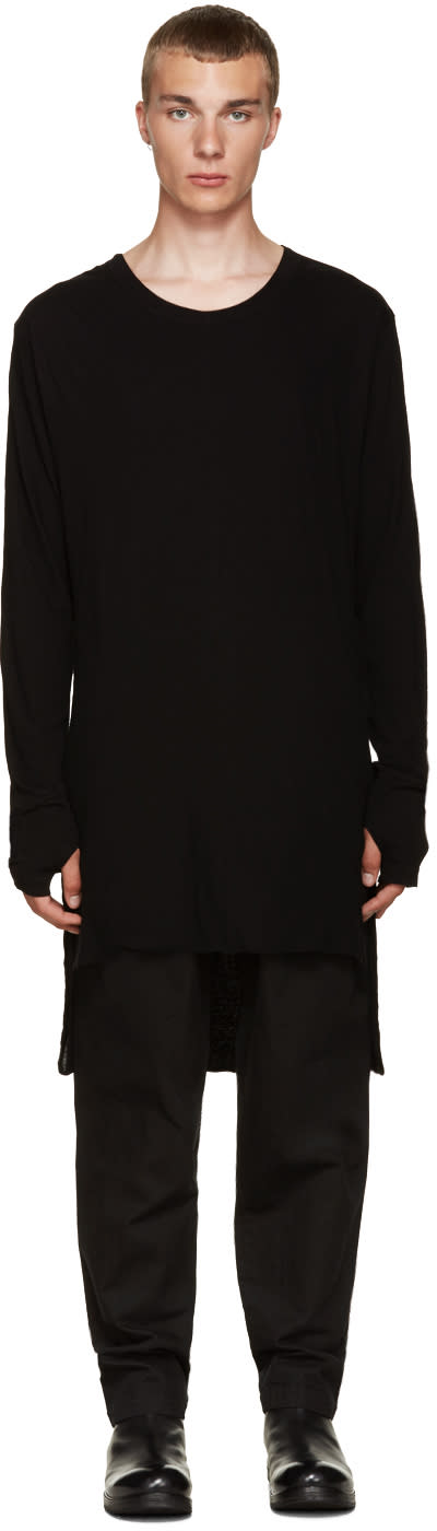 Nude:mm Black Overlong T-shirt