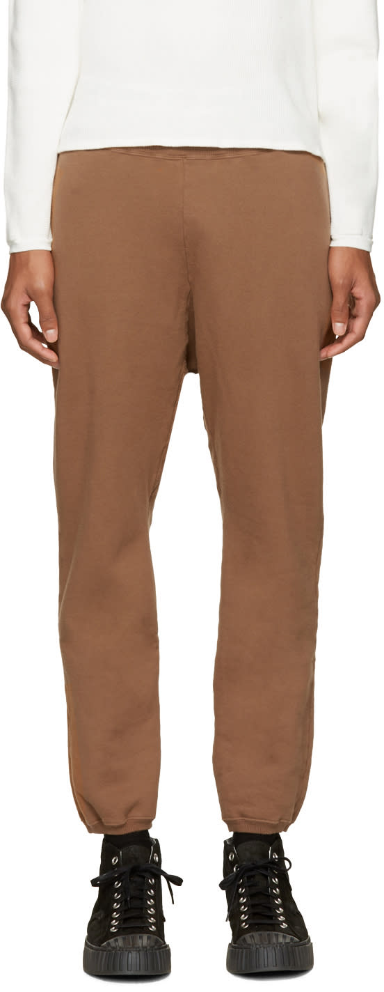 Undecorated Man Brown Fleece Lounge Pants