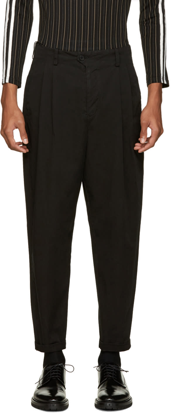 Undecorated Man Black Wide-leg Trousers