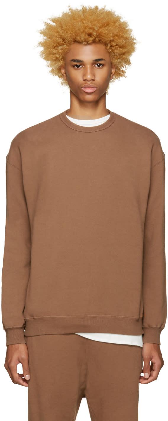 Undecorated Man Brown Zip Sweatshirt
