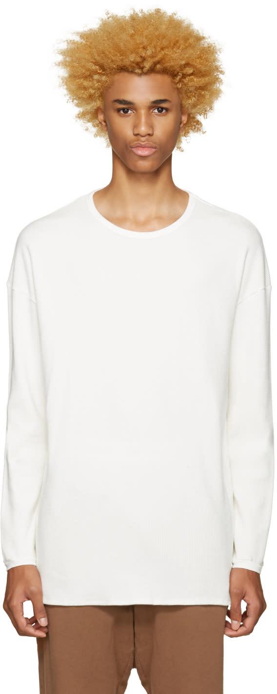 Undecorated Man Off-white Waffle Cotton T-shirt