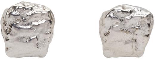 Pearls Before Swine Silver Mini Textured Earrings
