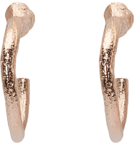 Pearls Before Swine Ssense Exclusive Rose Gold Loop Earrings