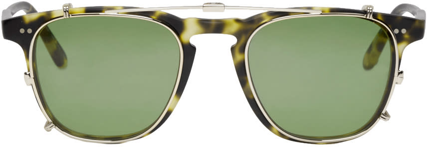 Garrett Leight Tortoiseshell Clip-on Brooks Glasses