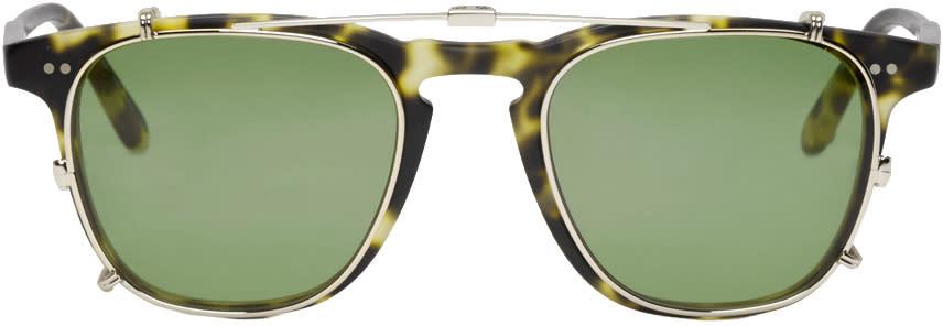Garrett Leight Tortoiseshell Clip-on Brooks Glasses