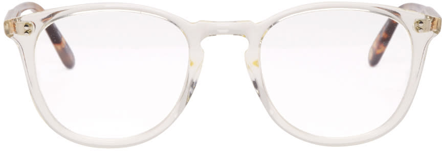 Garrett Leight Transparent Kinney Glasses