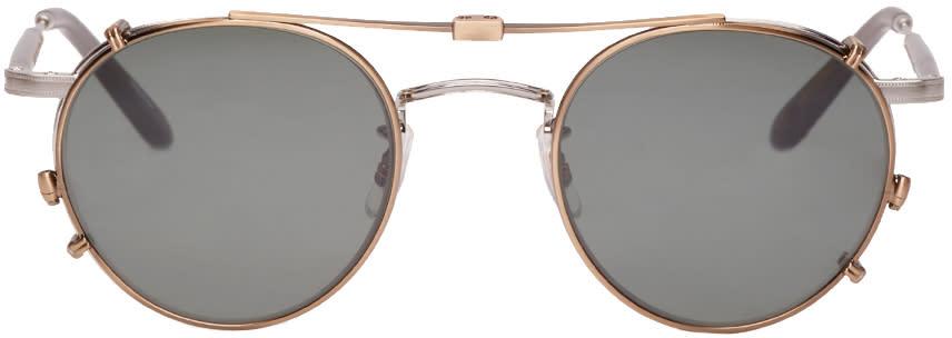 Garrett Leight Silver Clip-on Wilson M Sunglasses