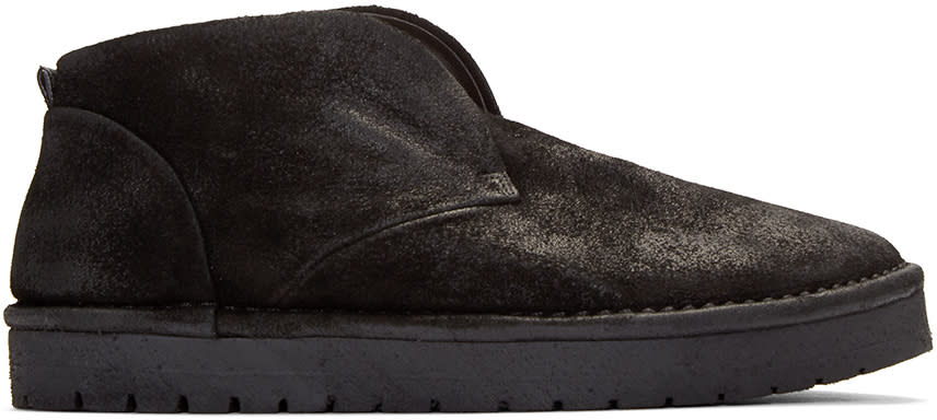 Marsell Gomma Black Nubuck Caprona Rov Boots