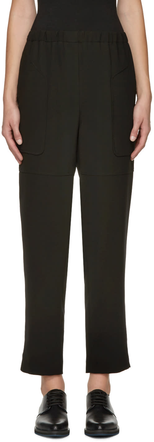 Jil Sander Navy Black Waistband Trousers