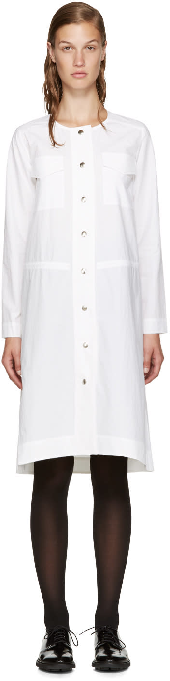 Nomia White Poplin Shirt Dress