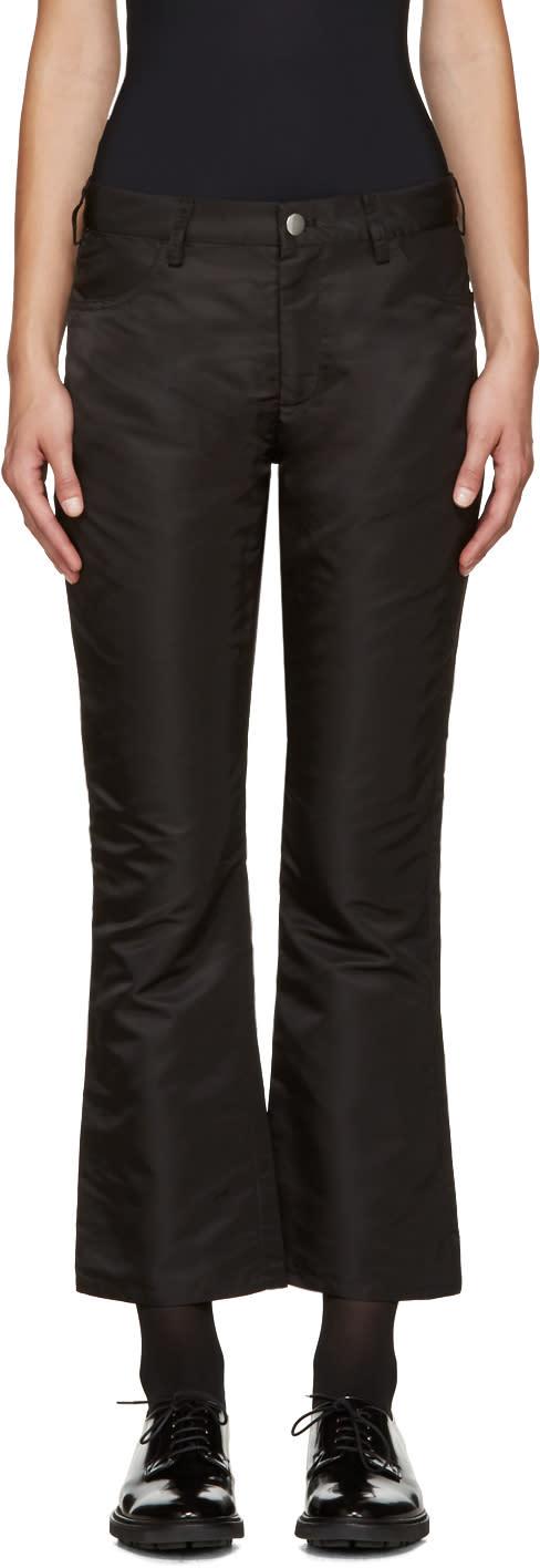 Nomia Black Flight Satin Trousers