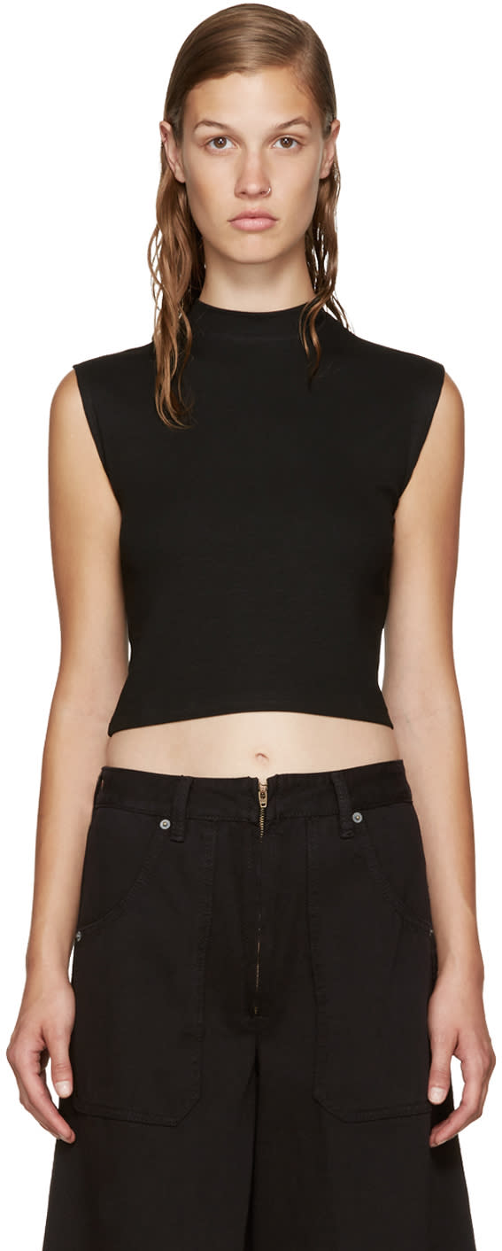 Nomia Black Cropped Muscle Top