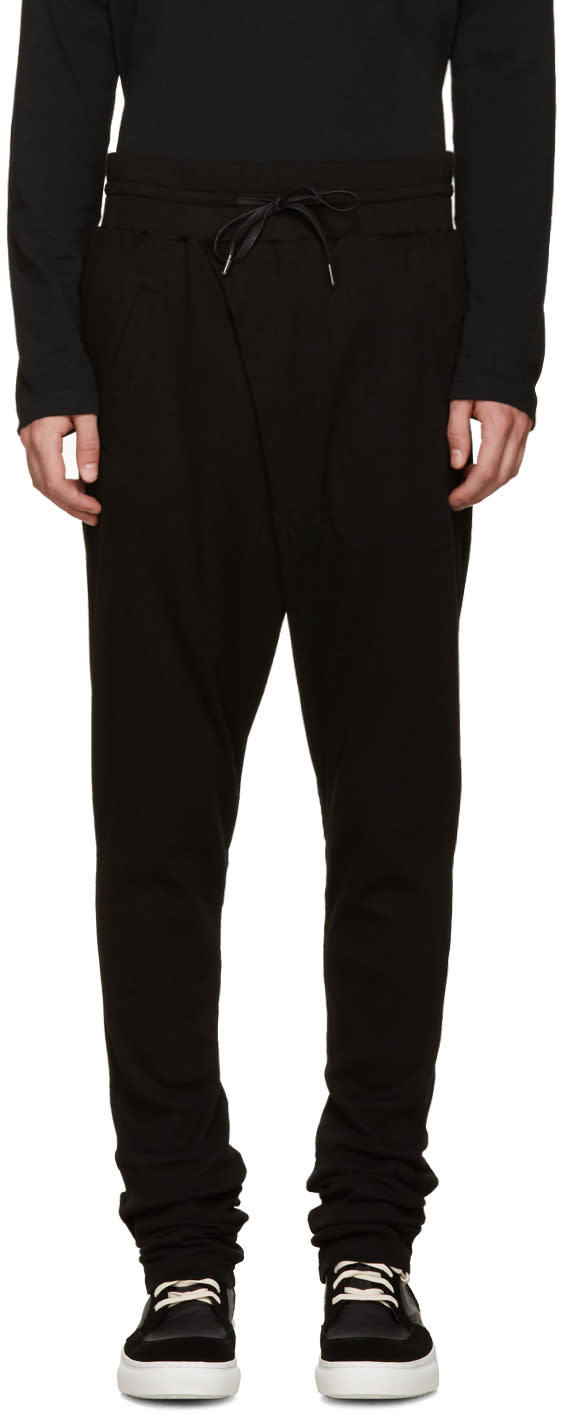 D By D Black Wrap Front Lounge Pants