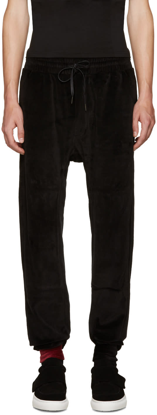 D By D Black Velvet Lounge Pants