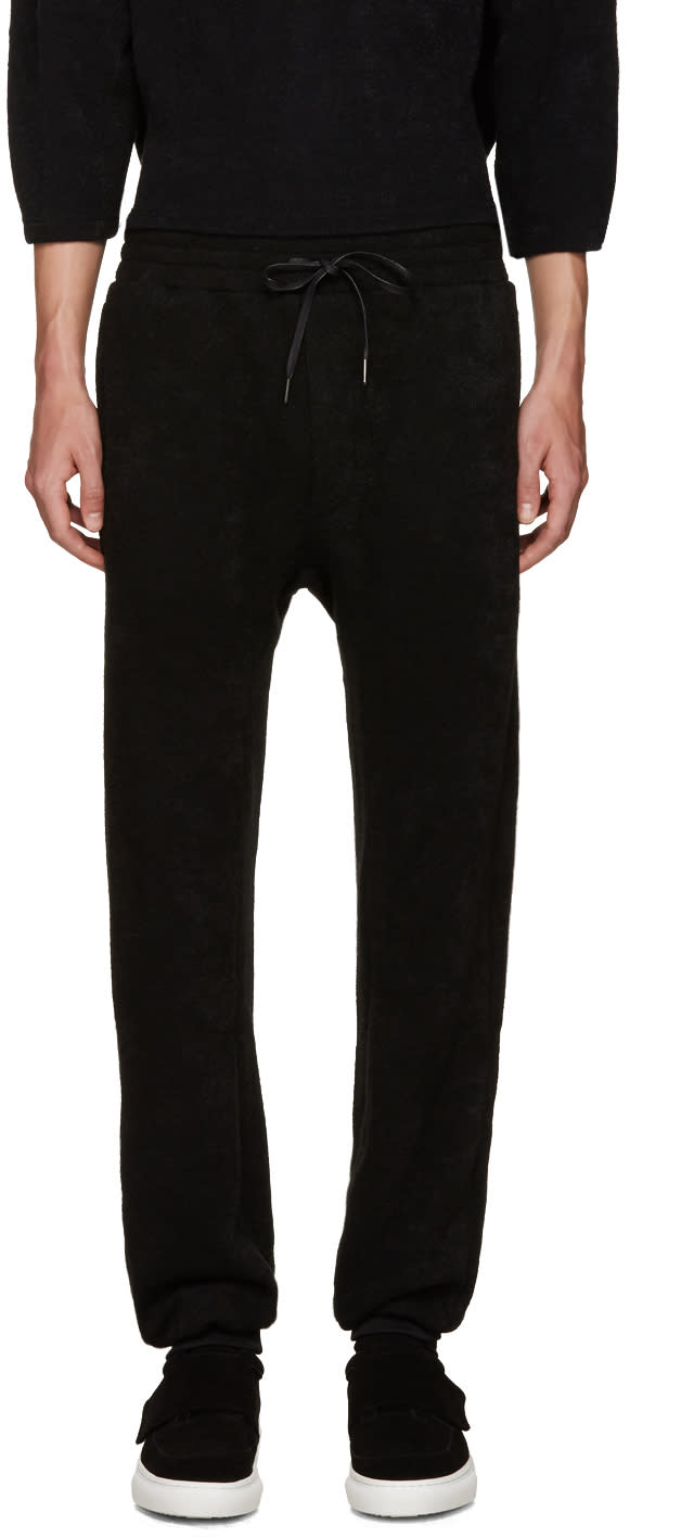 D By D Black Knit Lounge Pants