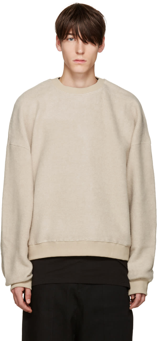 Image of D By D Beige Oversized Pullover