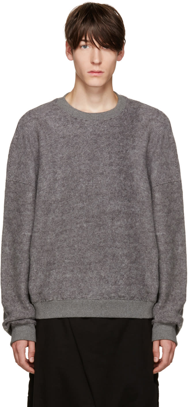 D By D Grey Oversized Pullover